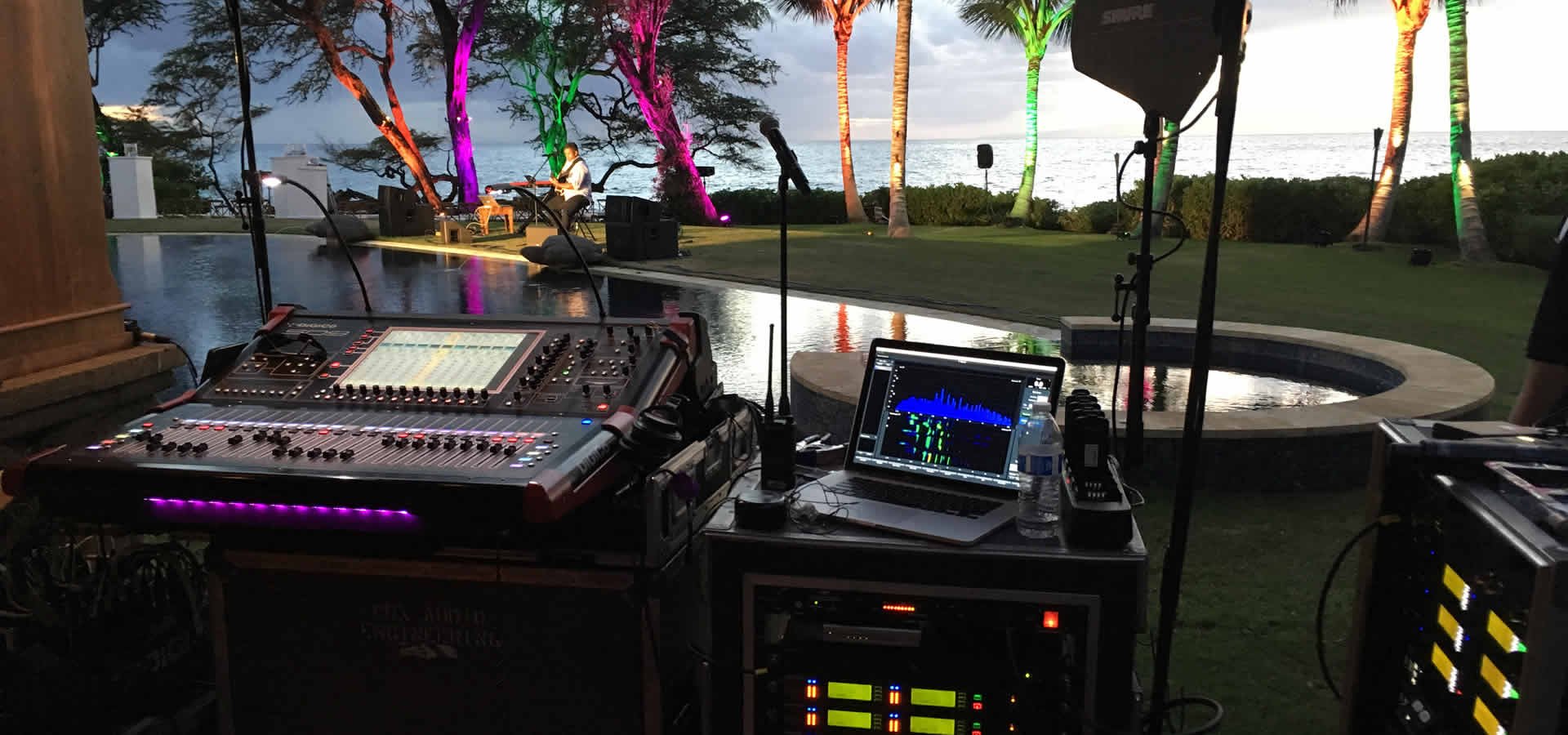 Audio for Wailea Wedding Event